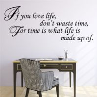 If You Love Life Don't Waste Time Wall sticker -  Word Art~ decals